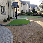 Artificial grass driveway 14mm single size gravel