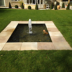 Bradstone June paving and water feature