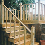 Raised timber deck platform